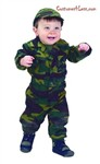 Personalized Jr. Camouflage Suit with Cap,18 Month (green)