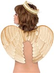 Gold Velvet Angel Wings and Halo Accessory Kit