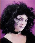 Wig, Curly Party Black