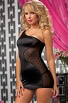 Sweet Spot Shiny Stretch Satin One Shoulder Strap Chemise