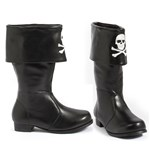 "101-PATCHES, 1"" Heel Children's Pirate Boot with Embroidered Skull."